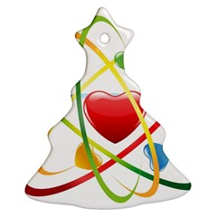 Love Christmas Tree Ornament (two Sides)