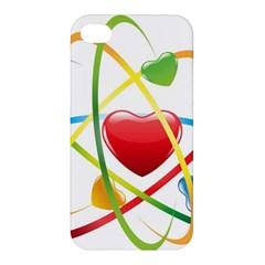 Love Apple Iphone 4/4s Premium Hardshell Case