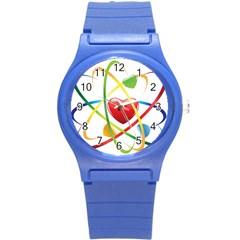 Love Round Plastic Sport Watch (s)
