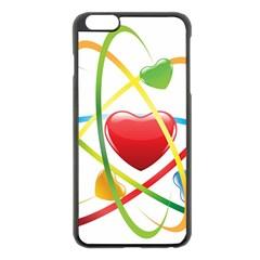 Love Apple Iphone 6 Plus/6s Plus Black Enamel Case