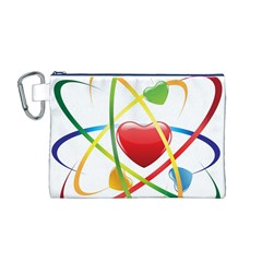 Love Canvas Cosmetic Bag (m)