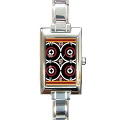 Toraja Pattern Ne limbongan Rectangle Italian Charm Watch