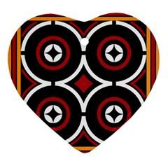 Toraja Pattern Ne limbongan Ornament (heart)