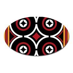Toraja Pattern Ne limbongan Oval Magnet