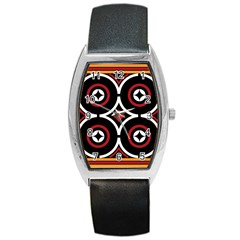 Toraja Pattern Ne limbongan Barrel Style Metal Watch