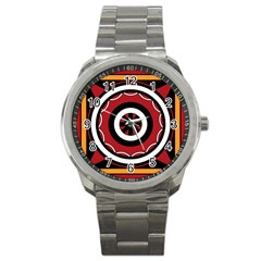 Toraja Pattern Pa barre Allo Sport Metal Watch