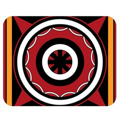 Toraja Pattern Pa barre Allo Double Sided Flano Blanket (medium)