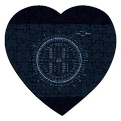 Minimalistic Knowledge Mathematics Trigonometry Jigsaw Puzzle (heart)