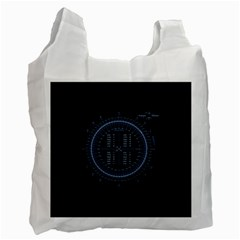 Minimalistic Knowledge Mathematics Trigonometry Recycle Bag (two Side)
