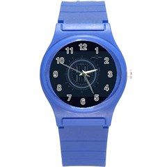 Minimalistic Knowledge Mathematics Trigonometry Round Plastic Sport Watch (s)