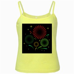 Fireworks With Star Vector Yellow Spaghetti Tank