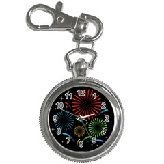 Fireworks With Star Vector Key Chain Watches