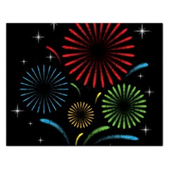 Fireworks With Star Vector Rectangular Jigsaw Puzzl