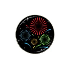Fireworks With Star Vector Hat Clip Ball Marker (4 Pack)