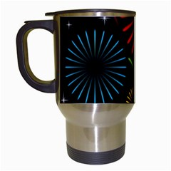 Fireworks With Star Vector Travel Mugs (white)