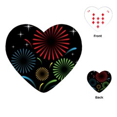 Fireworks With Star Vector Playing Cards (heart)