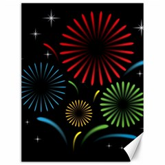 Fireworks With Star Vector Canvas 12  X 16