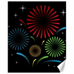 Fireworks With Star Vector Canvas 16  X 20