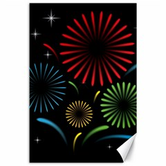 Fireworks With Star Vector Canvas 24  X 36