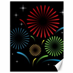 Fireworks With Star Vector Canvas 36  X 48