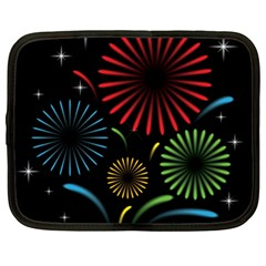 Fireworks With Star Vector Netbook Case (large)