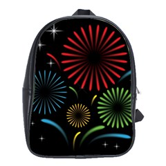 Fireworks With Star Vector School Bags(large)