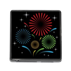 Fireworks With Star Vector Memory Card Reader (square)