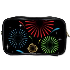 Fireworks With Star Vector Toiletries Bags 2 Side