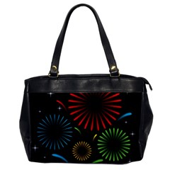 Fireworks With Star Vector Office Handbags
