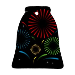 Fireworks With Star Vector Ornament (bell)