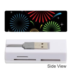 Fireworks With Star Vector Memory Card Reader (stick)