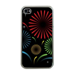 Fireworks With Star Vector Apple Iphone 4 Case (clear)
