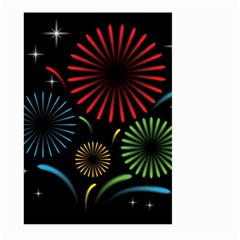 Fireworks With Star Vector Large Garden Flag (two Sides)