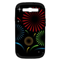 Fireworks With Star Vector Samsung Galaxy S Iii Hardshell Case (pc+silicone)
