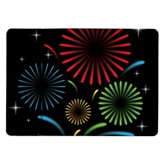 Fireworks With Star Vector Samsung Galaxy Tab 10 1  P7500 Flip Case