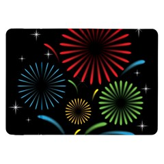Fireworks With Star Vector Samsung Galaxy Tab 8 9  P7300 Flip Case