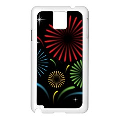 Fireworks With Star Vector Samsung Galaxy Note 3 N9005 Case (white)