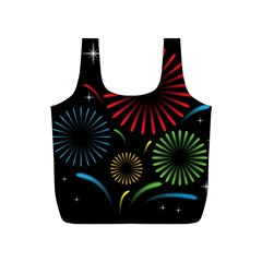 Fireworks With Star Vector Full Print Recycle Bags (s)