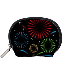 Fireworks With Star Vector Accessory Pouches (small)