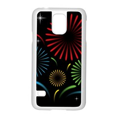 Fireworks With Star Vector Samsung Galaxy S5 Case (white)