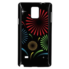 Fireworks With Star Vector Samsung Galaxy Note 4 Case (black)