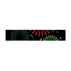 Fireworks With Star Vector Flano Scarf (mini)