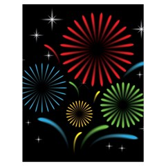 Fireworks With Star Vector Drawstring Bag (large)