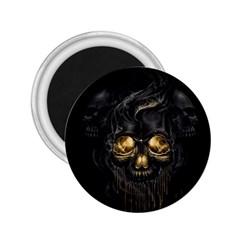 Art Fiction Black Skeletons Skull Smoke 2 25  Magnets