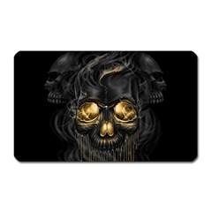 Art Fiction Black Skeletons Skull Smoke Magnet (rectangular)