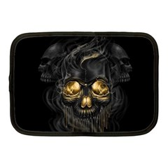 Art Fiction Black Skeletons Skull Smoke Netbook Case (medium)
