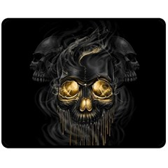 Art Fiction Black Skeletons Skull Smoke Fleece Blanket (medium)