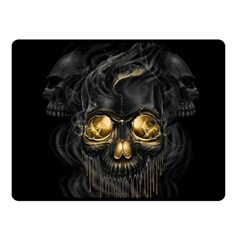 Art Fiction Black Skeletons Skull Smoke Fleece Blanket (small)