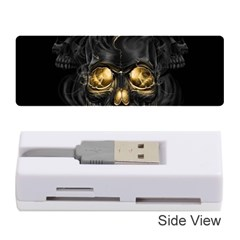 Art Fiction Black Skeletons Skull Smoke Memory Card Reader (stick)