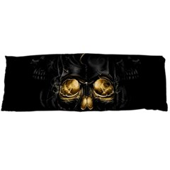 Art Fiction Black Skeletons Skull Smoke Body Pillow Case Dakimakura (two Sides)